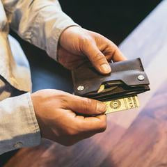 Leather Credit Card Wallet and Smart Key Holder