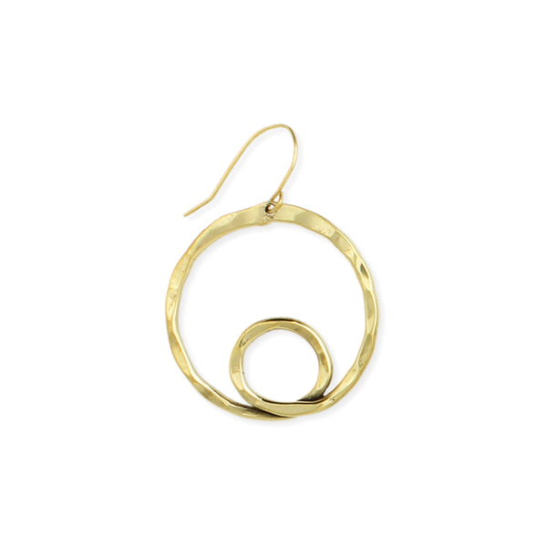 Loopdeloop Hammered Circle Earrings