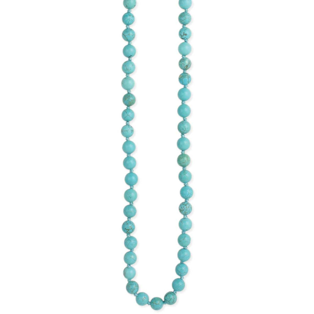 Turquoise Bead Long Necklace