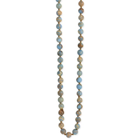 Blue Jasper Bead Long Necklace4500
