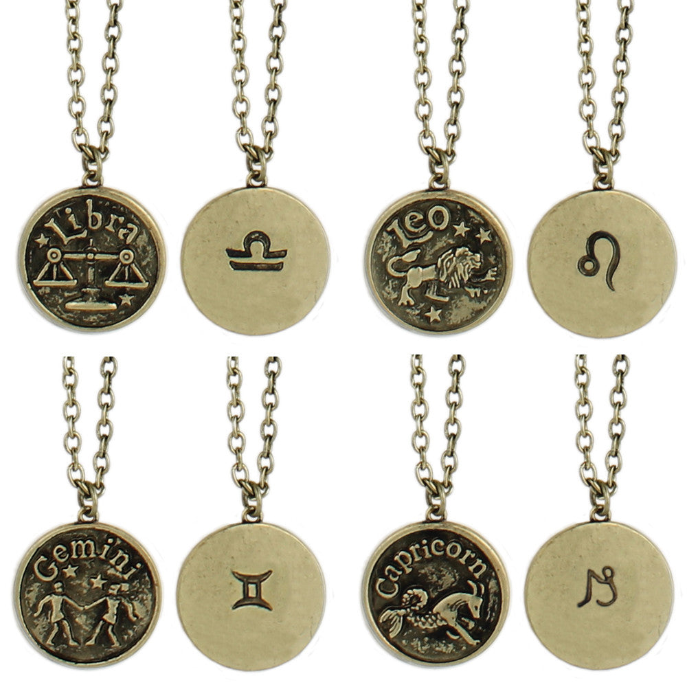 Zodiac Charm Necklaces - Anonymous L.A.