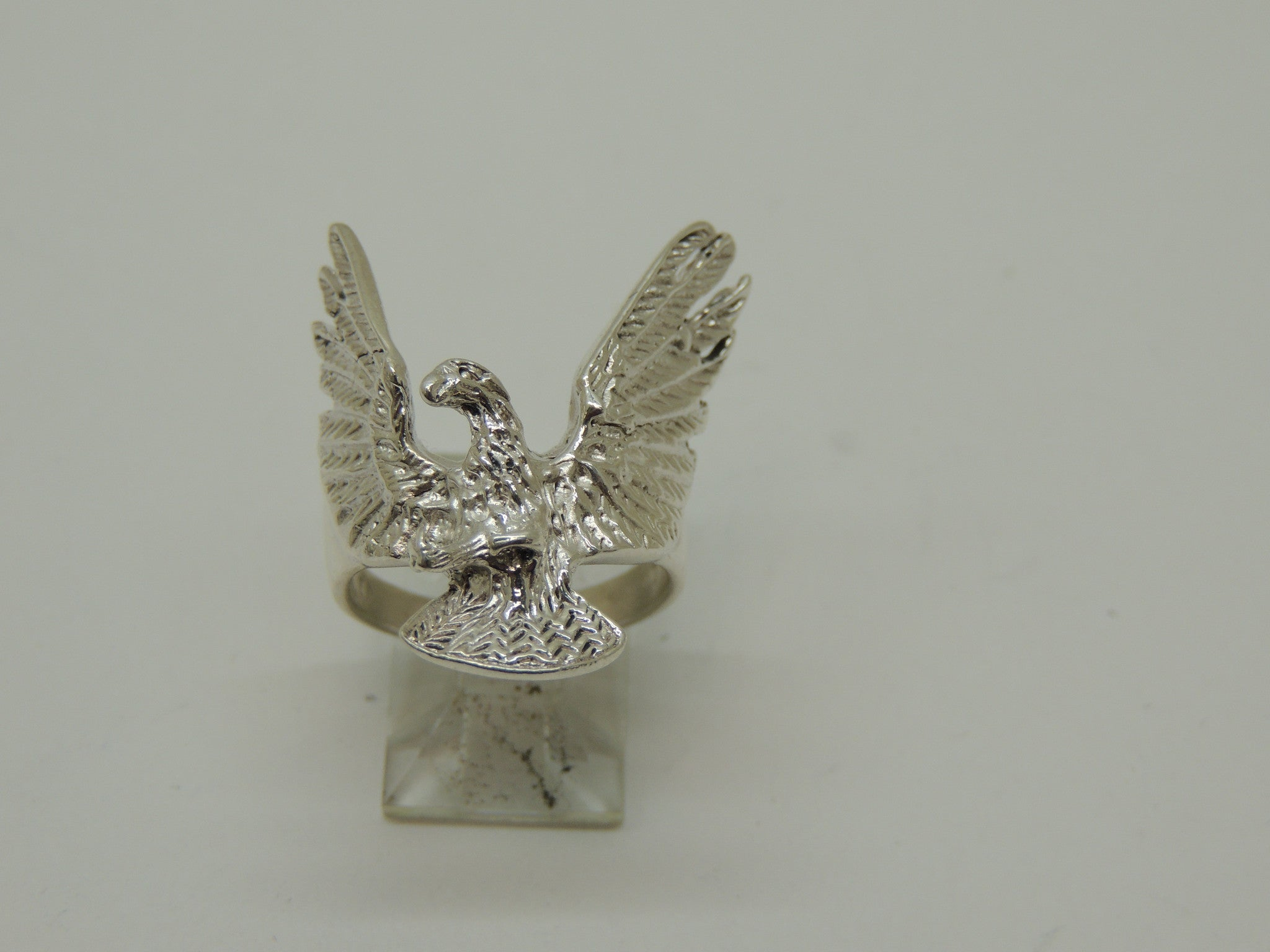 Sterling Silver 3D Eagle Ring