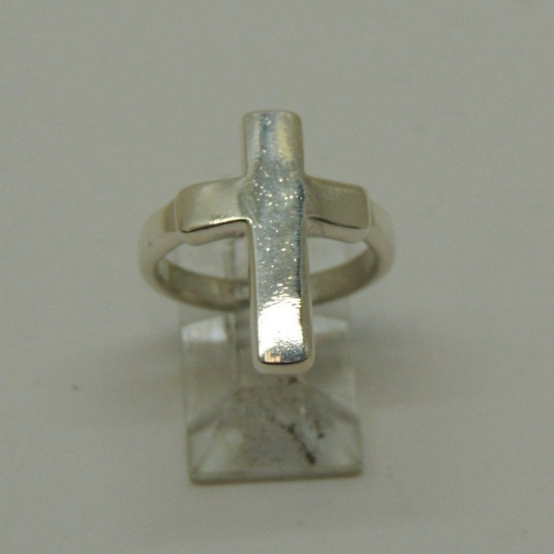 Sterling Silver Cross Ring, Size 5.75
