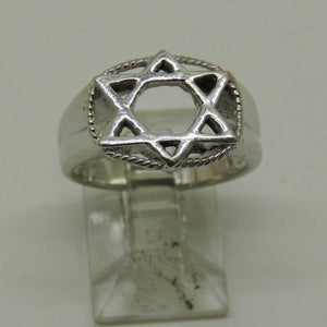 Sterling Silver Star of David Ring, Size 5.5