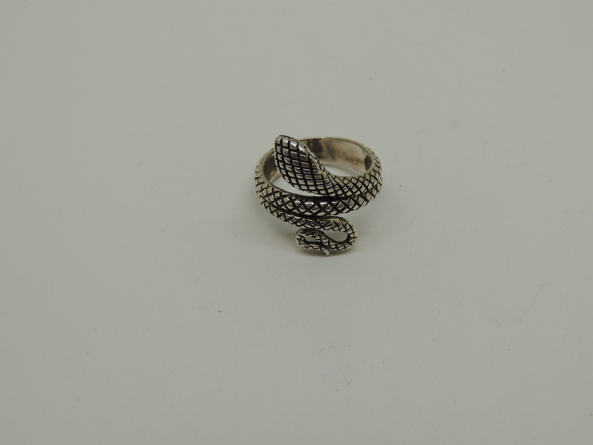Sterling Silver Snake Design Ring