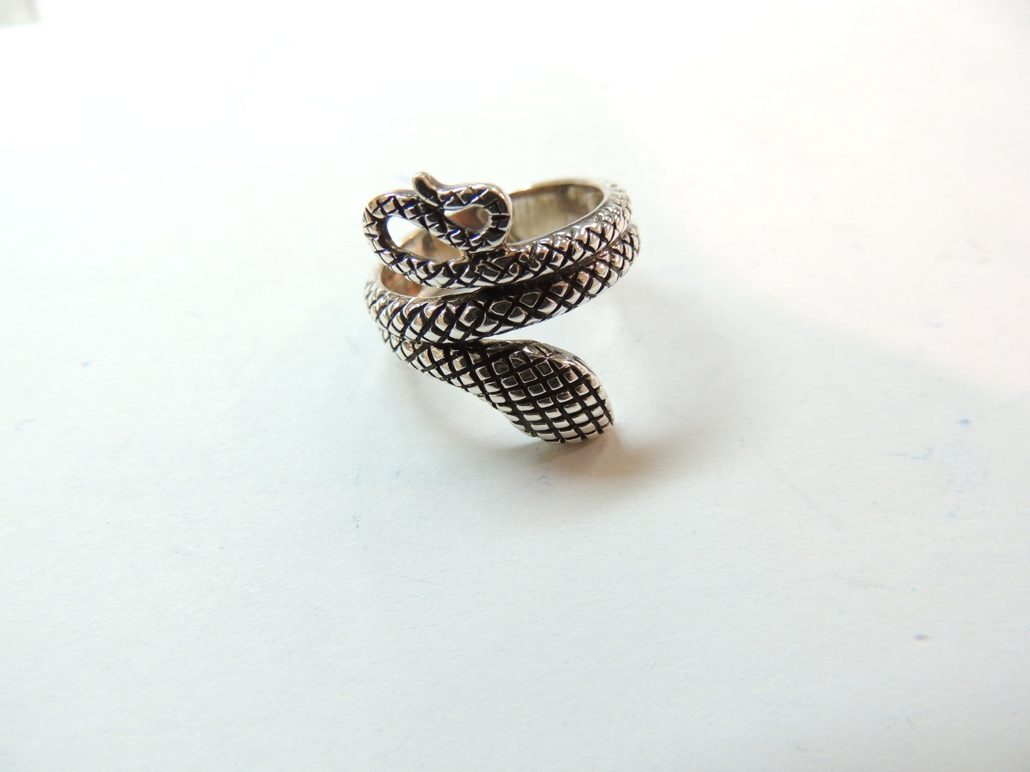 Sterling Silver Snake Design Ring Oxidized