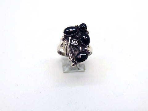 Sterling Silver Southwest Ring w/ Black Onyx