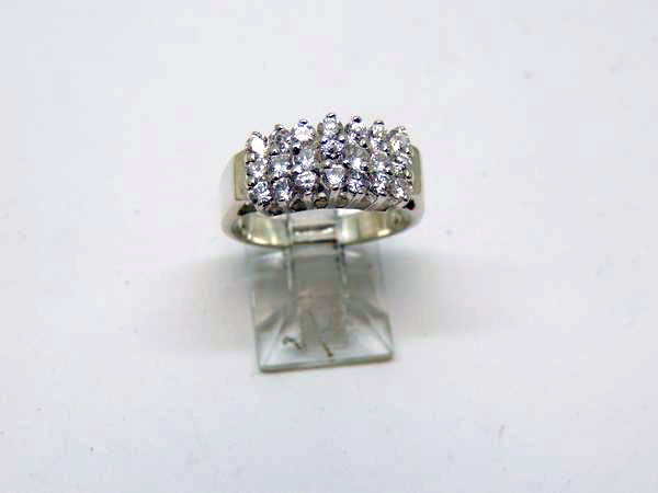 Sterling Silver Lady's Cubic Zirconia Ring