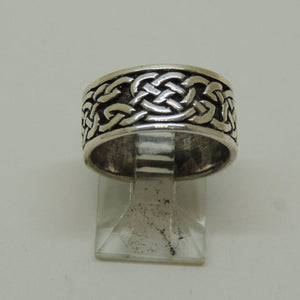Sterling Silver Celtic Band Ring. Size 5.5