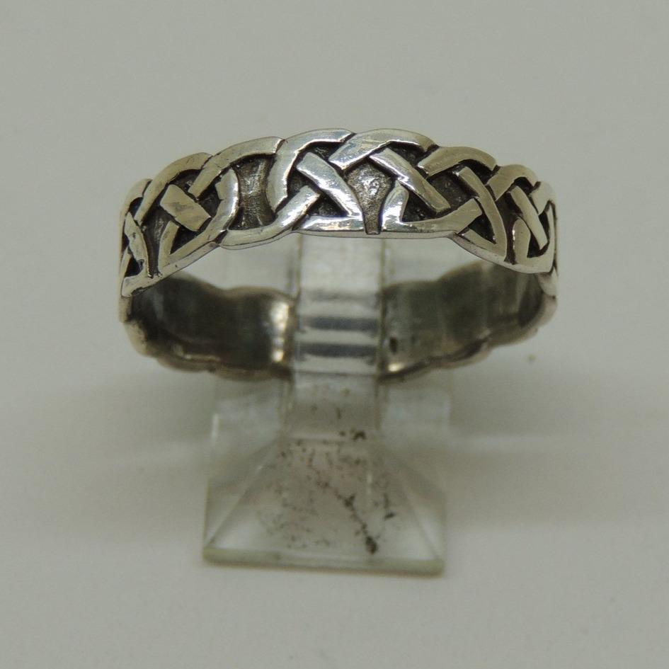 Sterling Silver Celtic Band Ring, Size 7