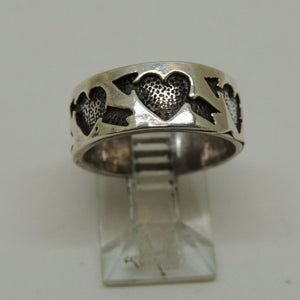 Sterling Silver Celtic Heart Ring, Size 6.5