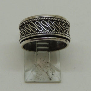 Sterling Silver Spinning Band Ring, Size 5
