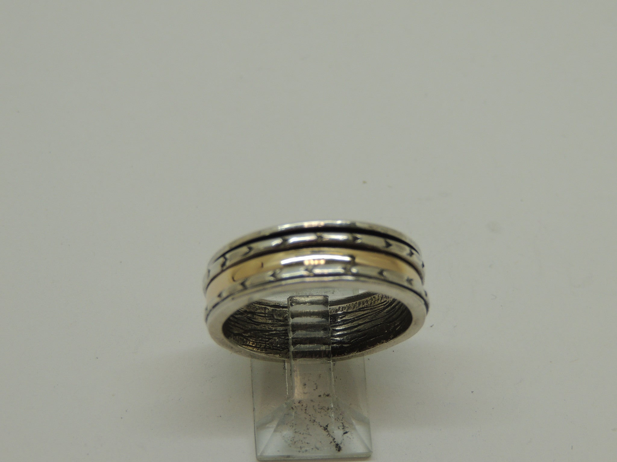 Sterling Silver Spinning Two Tone Ring