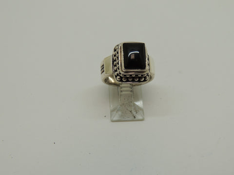 Sterling Silver Ring w/ Black Onyx