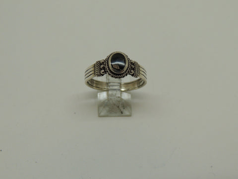 Sterling Silver Ring w/ Black Onyx Stone