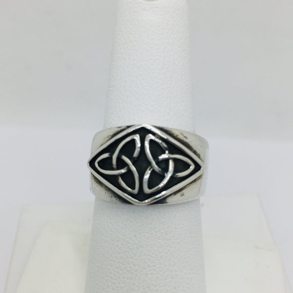 Sterling Silver Celtic Band Ring, Size 6.5