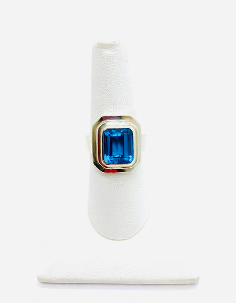 Sterling Silver Lady Blue Cubic Zirconia