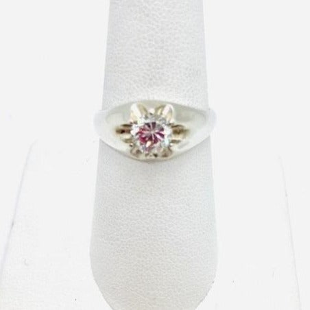 925 Sterling Silver Cubic Zirconia Ring, Size 7.75