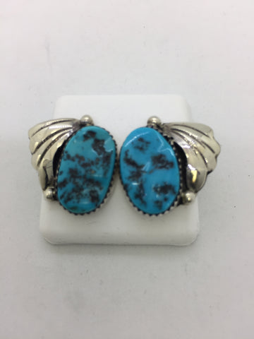 925 Sterling Silver Turquoise Post Earrings