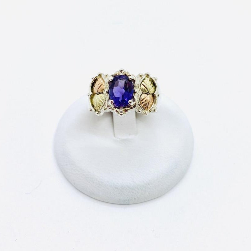 Sterling Silver Lady's Amethyst Ring