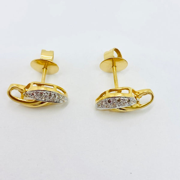 18Kt Gold Diamond Earrings