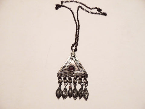 Antique Turkish Ottoman Silver Necklace