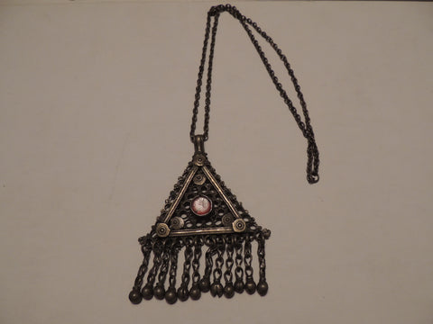 Antique Primitive Necklace Bronze/Silver