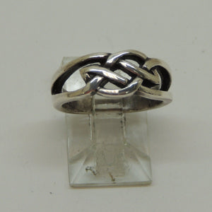 Sterling Silver Celtic Band Ring, Size 5.5