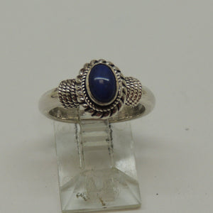 Sterling Silver Lady's Lapis Ring