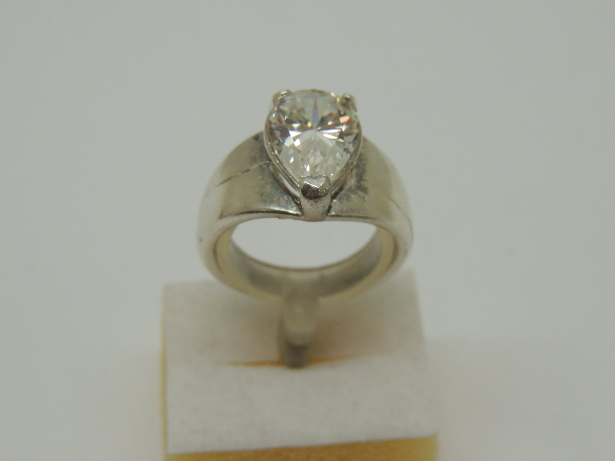 Solid Sterling Silver Lady's Cubic Zirconia Ring