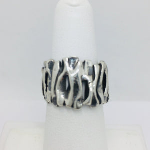 Sterling Silver Oxidized Band Ring, Size 6