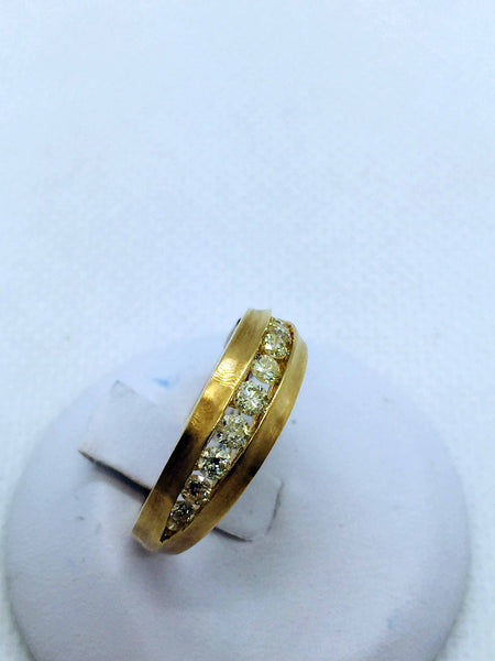 14k Solid Gold Diamond Band Ring