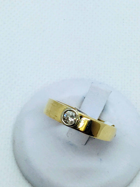 14k Solid Gold Mens Diamond Band Ring