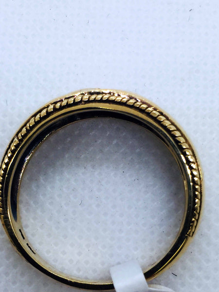 Vintage 10k Solid Gold Diamond Cross Mens Band Ring