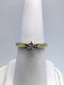 10k Solid Gold Diamond Engagement Ring