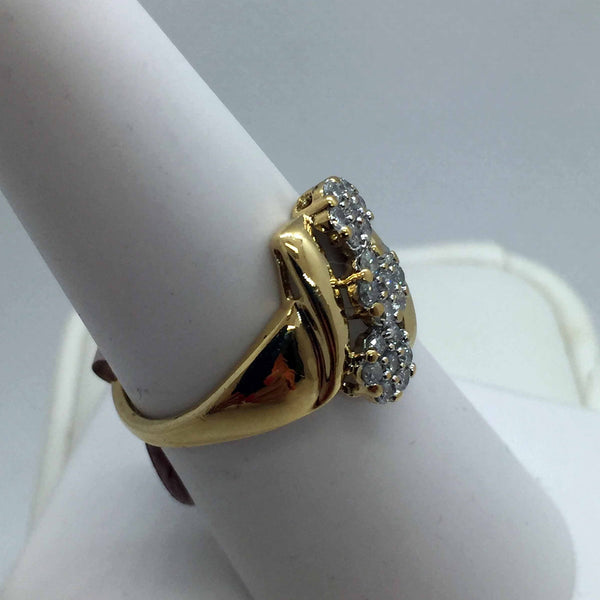 10k Solid Gold Diamond Ring