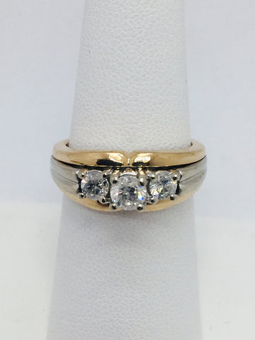 14K Yellow & White Gold Engagement Ring w/Diamonds | Pre-Owned