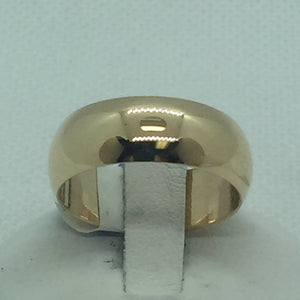 14k Solid Gold Wedding Band For Men