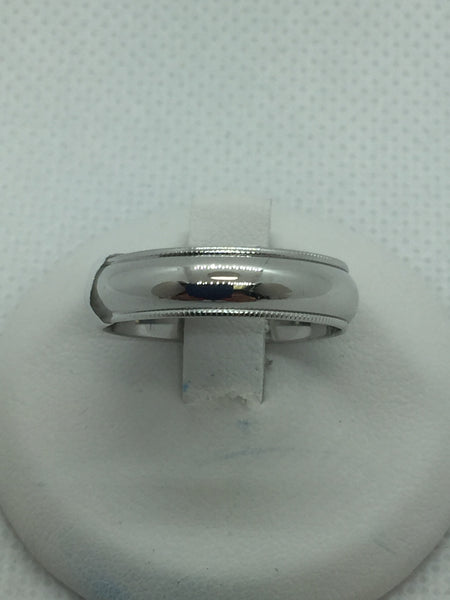 10k Solid White Gold Wedding Band Ring