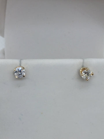 14k Solid Gold Diamond Stud & Jacket Earrings
