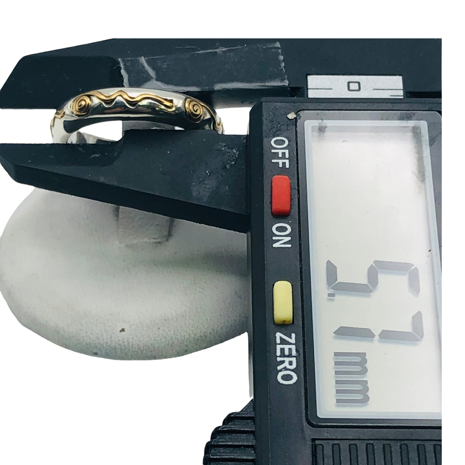 10k Solid Yellow Gold Double Heart Diamond Ring, Size 8