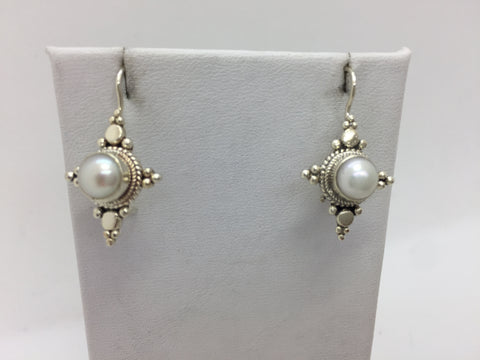 925 Sterling Silver Freshwater Pearl Drop Earrings