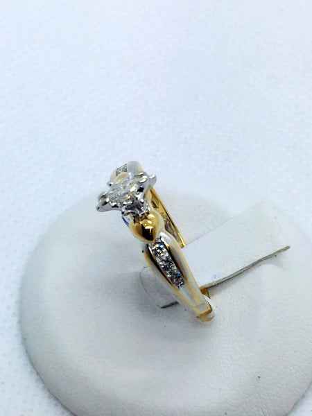 14k Solid Gold Diamond Engagement Ring