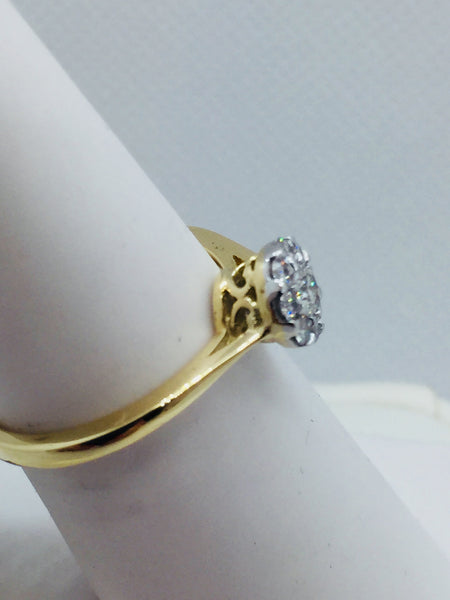 14k. Solid Gold Diamond Engagement Ring