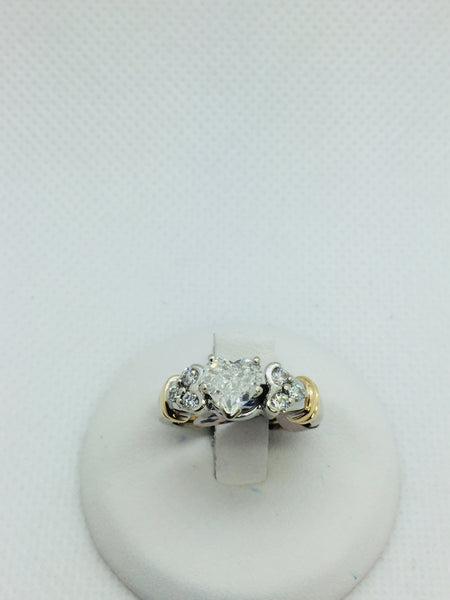 Vintage 14k Solid Gold Diamond Wedding Set Ring