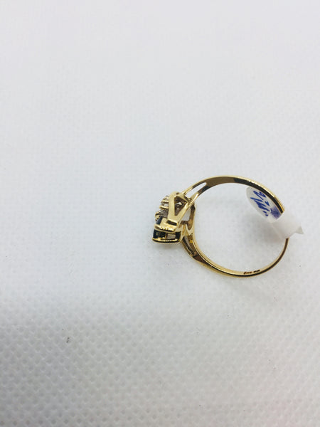 14k Solid Gold Genuine Sapphire Ring