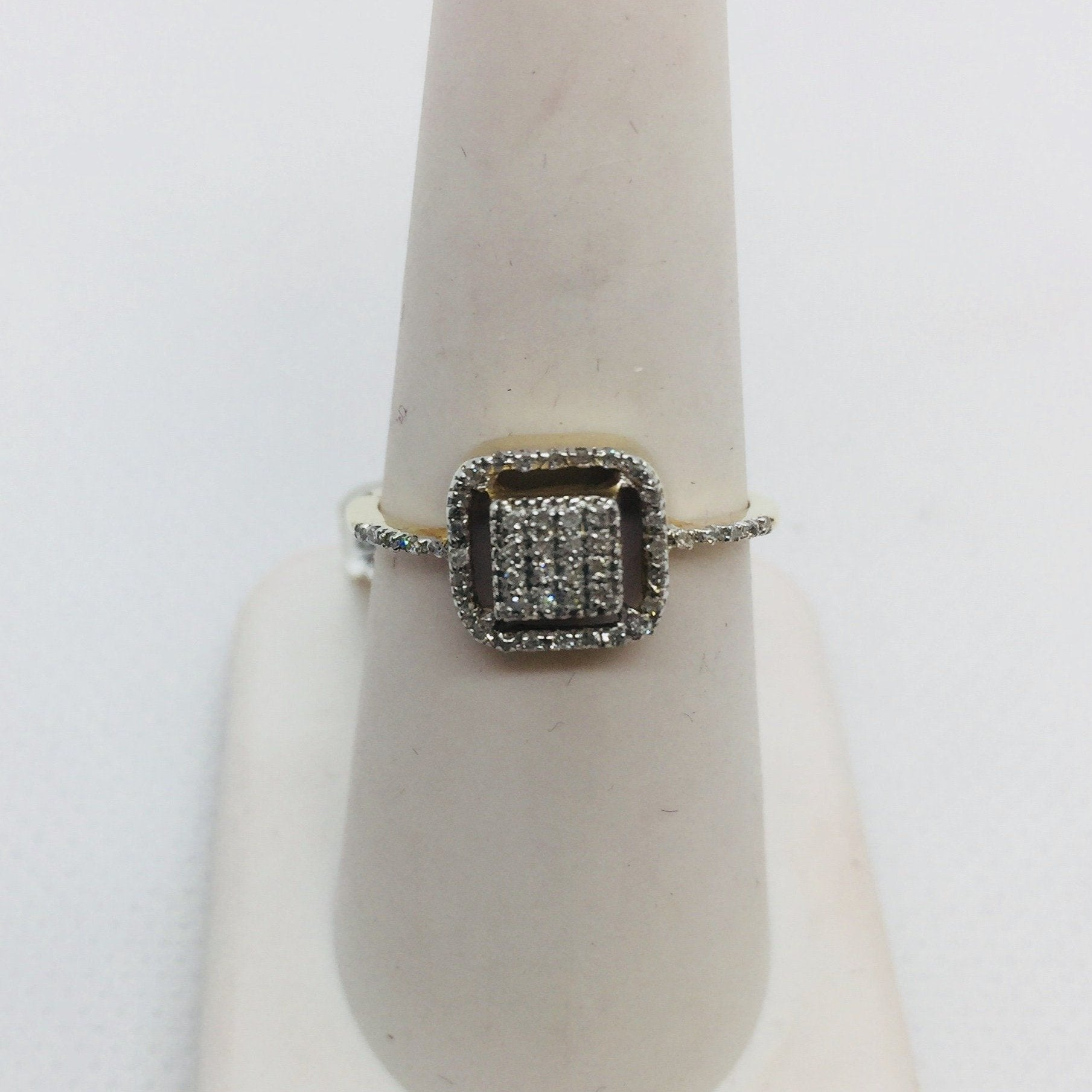 10k Solid Gold Pave Diamond Ring