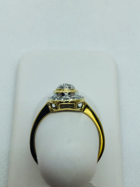 10k Solid Yellow Gold Diamond Ring