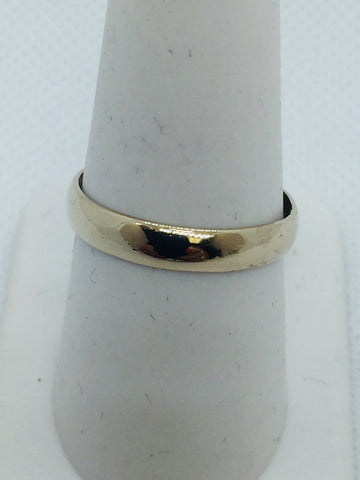 Vintage 18k Solid White Gold Wedding Band Ring