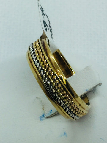 14k Solid Tri Tone Gold Wedding Band Ring